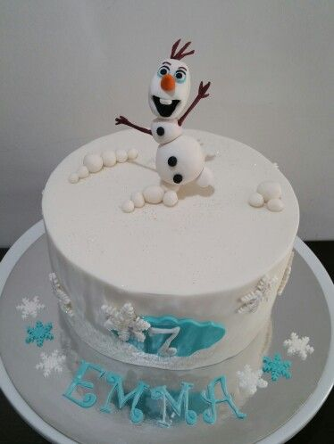 Olaf frozen cake. @ Two Cute Chefs