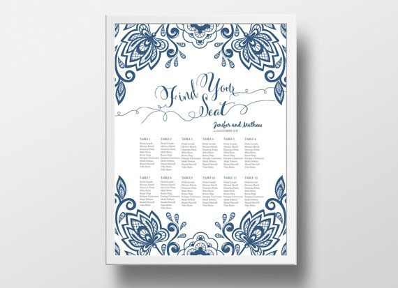 12 best DIY Wedding Seating Chart Poster Templates images on