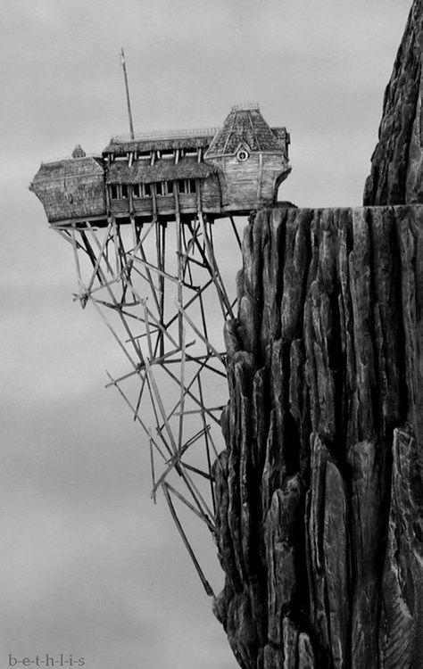 odd #house #mountain cliff