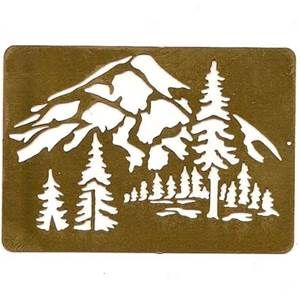 mountain stencils - Bing images | Stencils, Art, Tree stencil