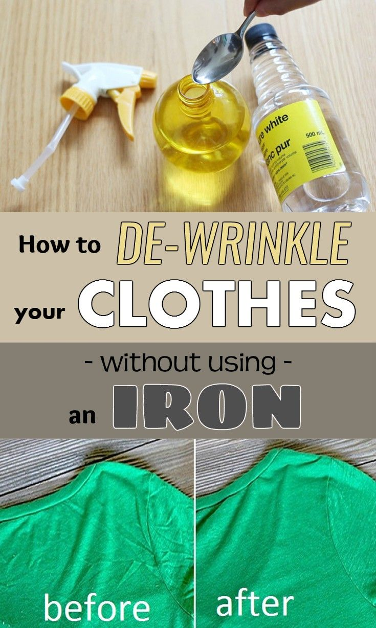 38 best images about life hacks on pinterest chocolate tree pants and hershey 39 s kisses - How to unwrinkle your clothes with no iron ...