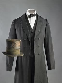 the National Museum of American History has re-opened and is featuring on display a suit and top hat owned and worn by our 16th President, Abraham Lincoln.