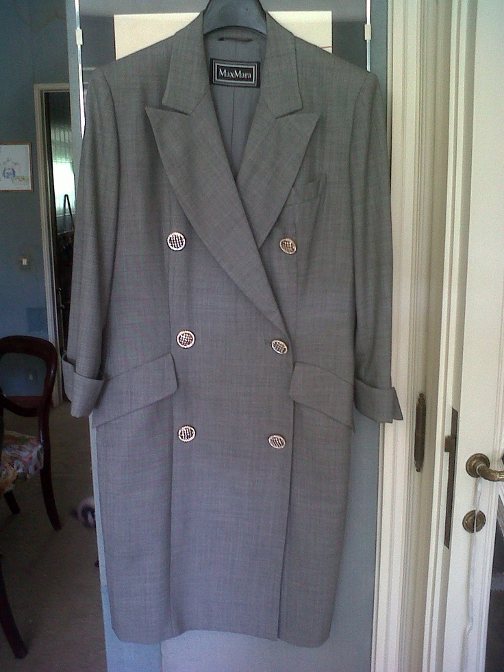 Fall Max Mara 70s Coat with Swarovski buttons