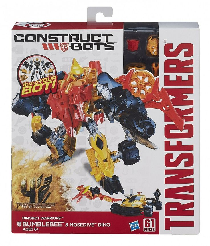 Just in time for the new movie Transformers: Age of Extinction we've received our Hasbro order including a whole new series of construct bots!