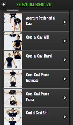 Schede Allenamento ed Esercizi per il Fitness. La tua App completamente in italiano!<br>Crea la tua scheda di allenamento o scegli tra quelle esistenti. Puoi farlo dall'app o anche da pc all'indirizzo www.fitnessitaly.com. Sito web e app sono sincronizzati.<br>Libreria di 200 esercizi selezionabili per nome, gruppo muscolare o attrezzo.<br>Esercizi con macchinari cardiovascolari, isotonici, manubri, bilancieri, cavi, fitball, kettlebell, stretching, corpo libero.<br>In ogni esercizio…