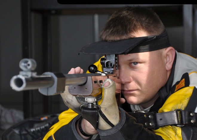 Army Sgt. 1st Class Josh Olson Sport: R3 10M Rifle Prone and R6 50M Rifle Prone Shooting