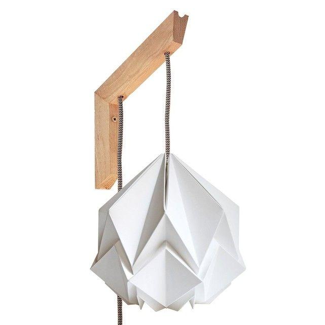 Origami Papier Et Suspension Bois Design Applique En Murale PiOkTXZu