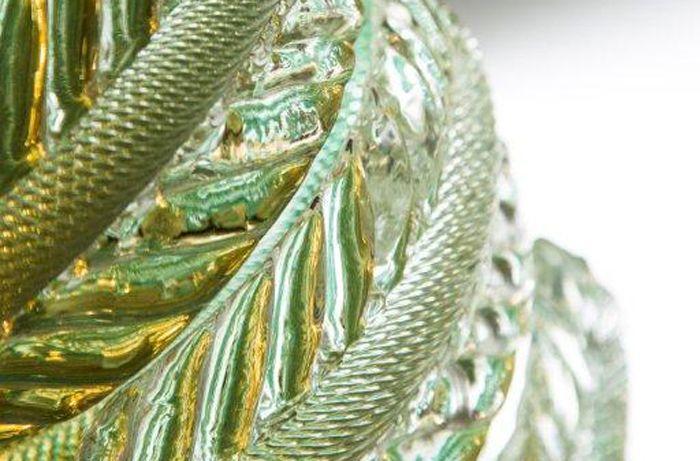 Fontana in #vetro di #Murano, dettaglio lavorazione vetro > http://danielebiasin.it/portfolio-items/fontana-in-vetro