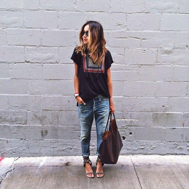 slouchy jeans via Julie Sariñana @sincerelyjules   Websta (Webstagram)