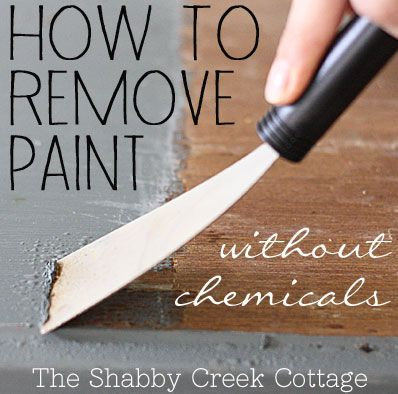 how to remove paint ~~ from furniture without chemicals via TheShabbyCreekCottage.com
