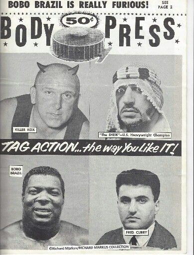 Body Press - Killer Karl Kox, The Sheik, Bobo Brazil, Fred Curry