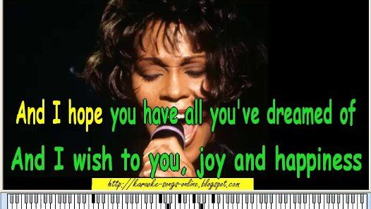 Whitney Houston - I will always love you- Karaoke