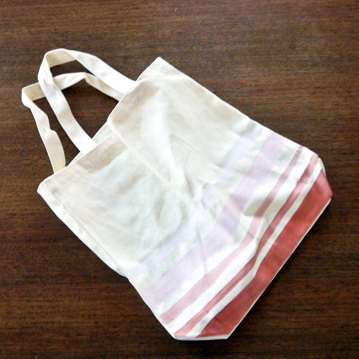 DIY Ombré Painted Canvas Tote Bag