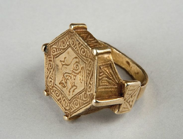 The ring that belonged to one of princes of Kievan Rus of the 13th century ~ today it is the best saved golden ring that was made by some Russian jeweler of early 13th century. The lion on the ring points to the high position of ring's owner