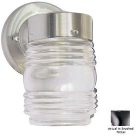 volume jelly jar 7in h brushed nickel outdoor wall light