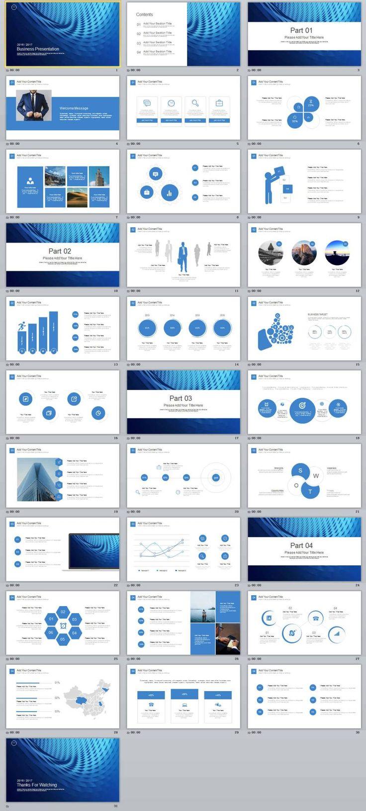 31+ Blue Business Premium Presentation powerpoint Template | PowerPoint Templates and Keynote Templates