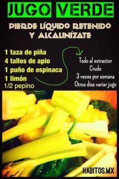 Jugo Verde, con receta
