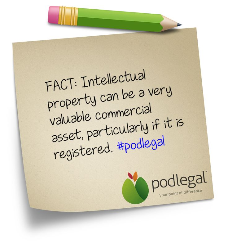 Intellectual Property as a commercial asset #IP #intellectualproperty #podlegal www.podlegal.com.au