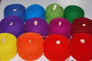 Temperature scarf yarn