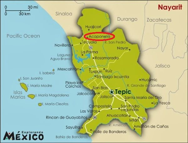 33 Best Mexico States And Capitals Images On Pinterest Viajes: Map Of West Coast Mexico At Infoasik.co