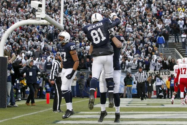 PENN STATE – Just about any team in the country would be happy going into battle with James, Breneman or Carter as their focal tight end while Penn State has the issue of figuring out how to get them all involved. Breneman being 100 percent healed from a knee injury will only make him more dangerous and when Carter is healthy, he's as good as anybody in the conference. The staff will surely try to use this group to mask the deficiencies and inexperience at receiver.