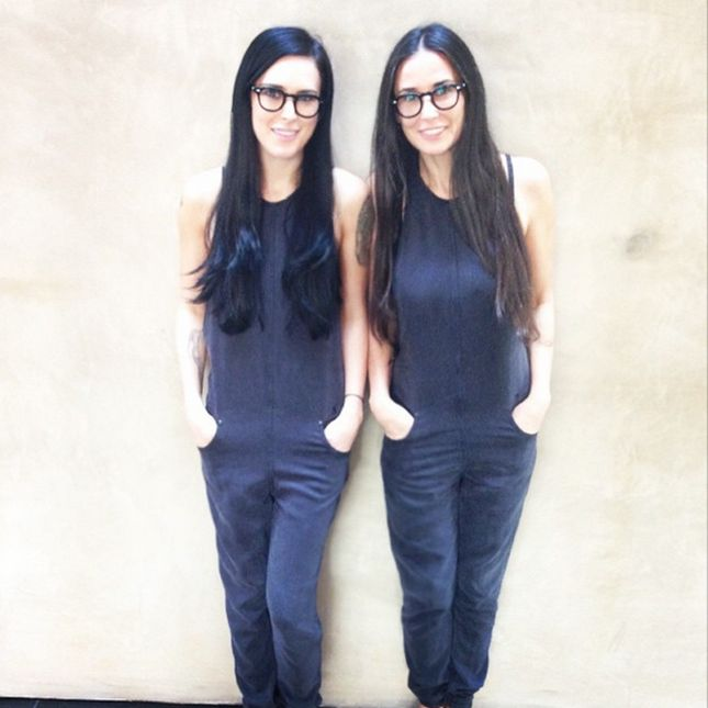 Rumer Willis and Demi Moore are totally twinning.