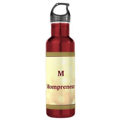 Mompreneur personalised water bottle - birthday gifts party celebration custom gift ideas diy