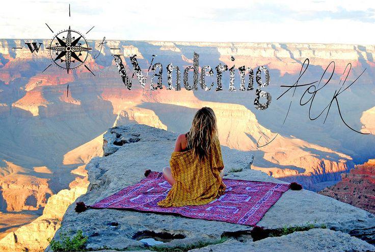 W U N D E R L U S T ...Grand Canyon ....www.wanderingfolk.net  Picnic Rug