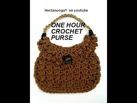 One hour crochet bag, purse, satchel, tote, shoulder bag, Quick and Easy tutorial on youtube!