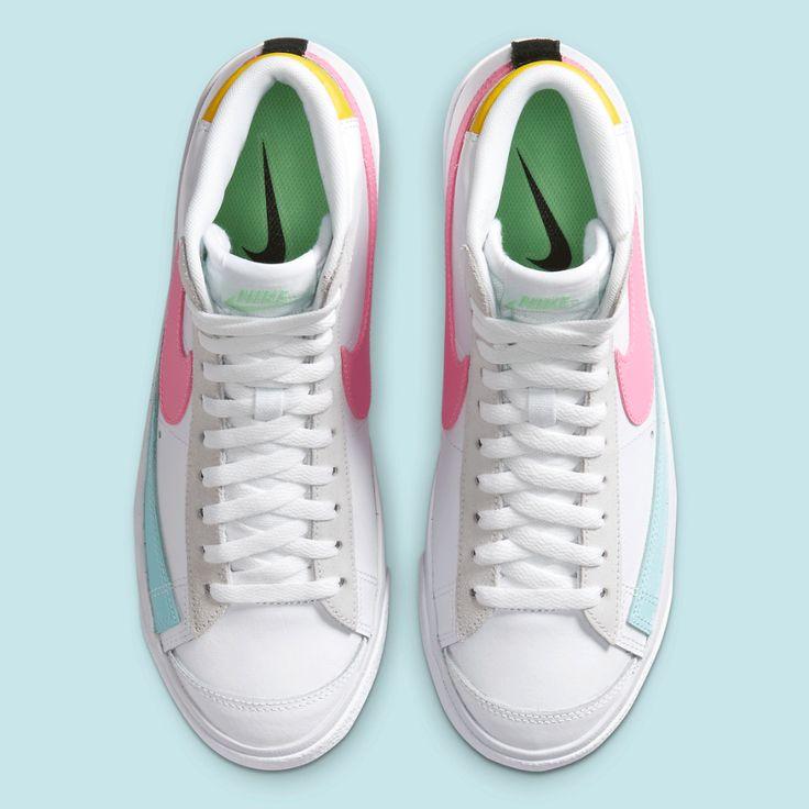 Nike Blazer Mid 77 Pink Glow Da4295 100 Release Sneakernews Com Nike Blazer Nike White Sneaker