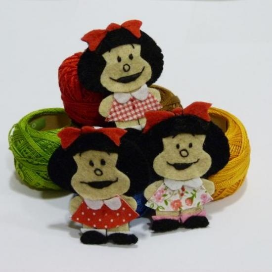 Broche mafaldaCrafts Ideas, Broches Mafalda, Manualidades Del, Mafalda Fieltro, Broches Fieltro