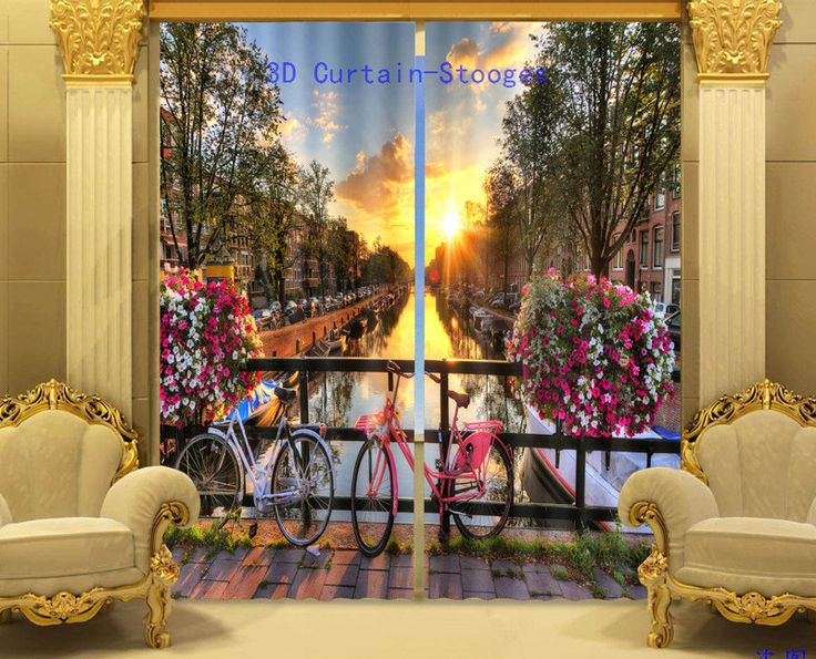 Beautiful Blackout 3D Window Curtains Drapes For Living room Bed room Office Hotel Home Decorative Wall Tapestry Cortinas  #Affiliate