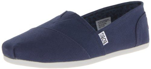 BOBS from Skechers Women's Plush Peace and Love Flat,NVY-Navy,6 M US - http://all-shoes-online.com/skechers-3/6-b-m-us-bobs-from-skechers-womens-plush-peace-and-10