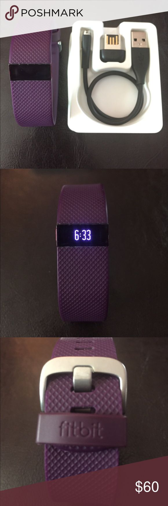 Fitbit Charge HR small plum Works great! There are some small scratches on the screen. I only wore this for a few months. fitbit Other