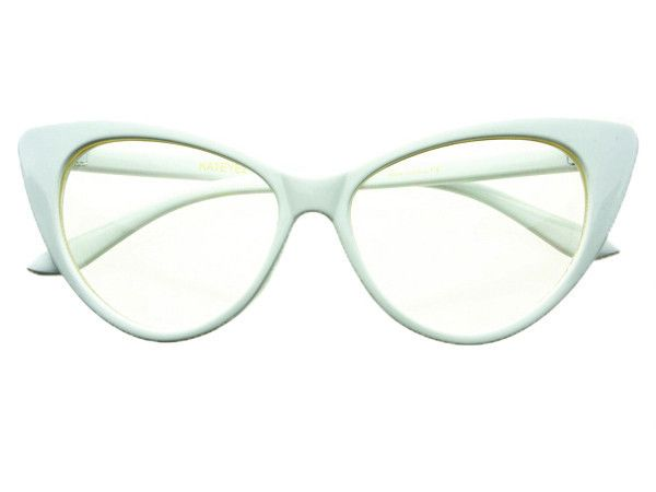 Designer Fashion Pearls Clear Lens Oversized Round Glasses ...