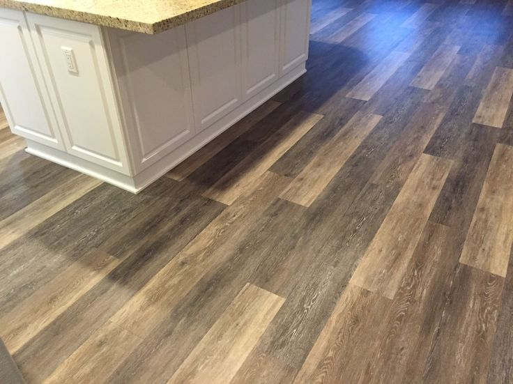 Kitchen floor inspiration coretec plus 7 alabaster oak for Kitchen floor inspiration