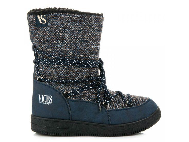 Tmavo modré snehule VICES
