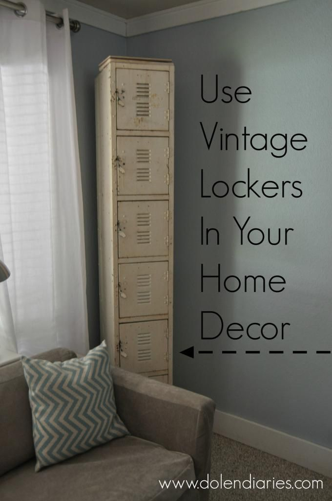 A collection of ways to use vintage lockers in your home decor. {Dolen Diaries} #lockers #vintage #diy