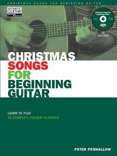 Christmas Songs for Beginning Guitar Book/CD (String Letter Publishing) (Acoustic Guitar) (Acoustic Guitar Magazine's Private Lessons). Add to your repertoire with this collection of traditional, easy-to-play holiday classics. You'll practice and reinforce the techniques you've learned in The Acoustic Guitar Method, Book One. Bring these beautiful melodies to life by listening to the recordings on the companion CD and then using the transcriptions to practice single-note melodies in open…