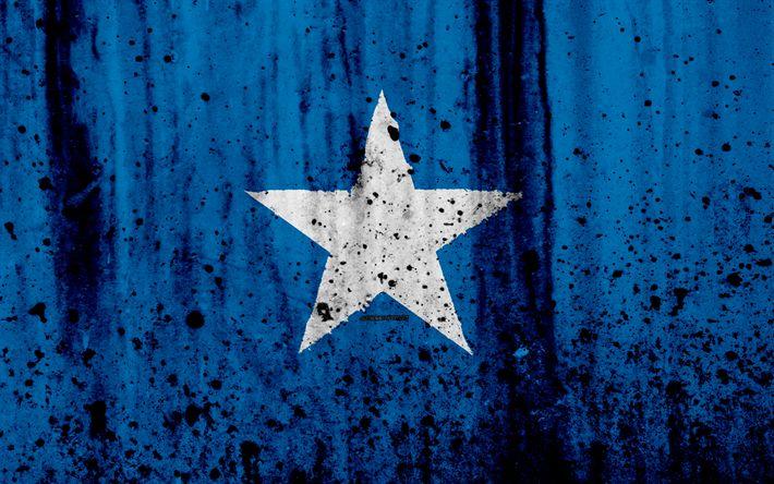 Download wallpapers Somali flag, 4k, grunge, flag of Somalia, Africa, Somalia, national symbols, Somalia national flag