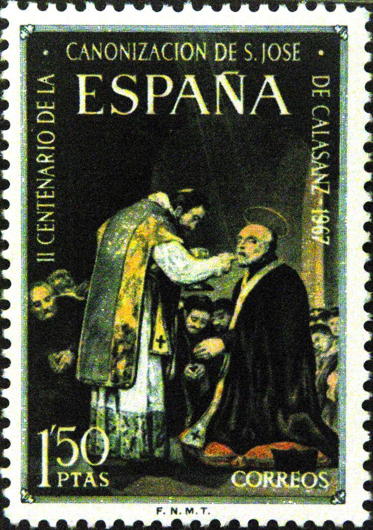 Sello - II Centenario de la Canonizacion de S. Jose de la Calzada 1967