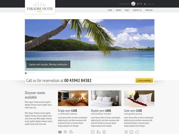Paradise Hotel Template