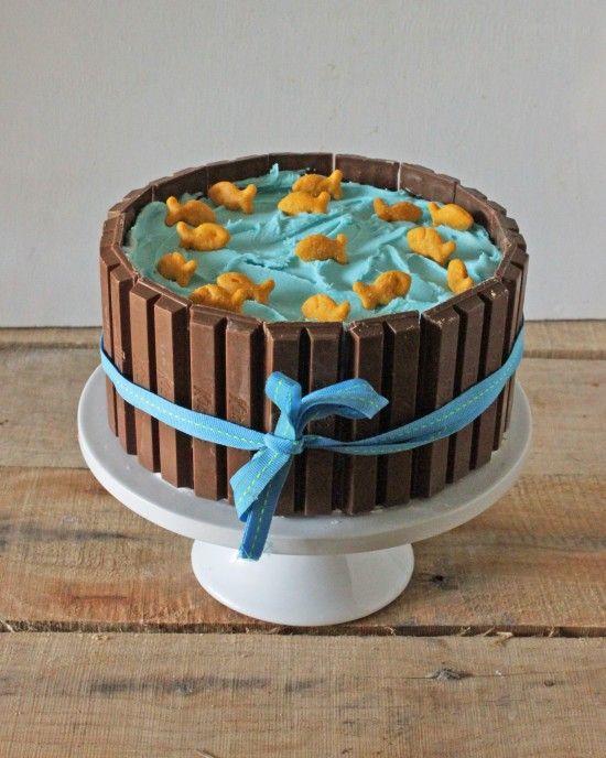 How to Make a Kit Kat Candy Cake • CakeJournal.com