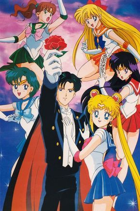 cartoon, 90's, and sailor moon image