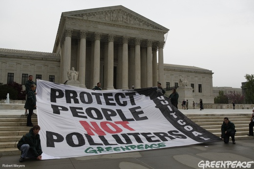 Supreme Court Banner by Greenpeace USA 2012, via Flickr