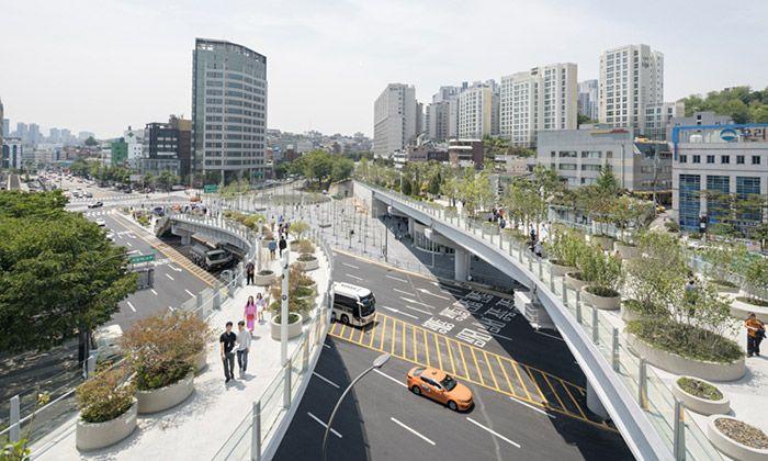 Soul přestavěl nepoužívaný viadukt na veřejný park