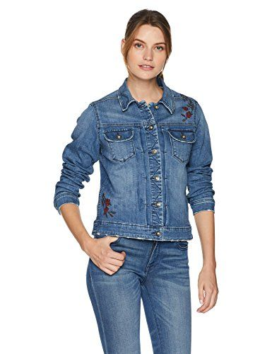7859ac2e784a SALE PRICE - $34.9 - LEE Women's Modern Series Holden Denim Jacket Stretch  denim fabric that moves with you Detailed with dual button-flap pockets and  ...