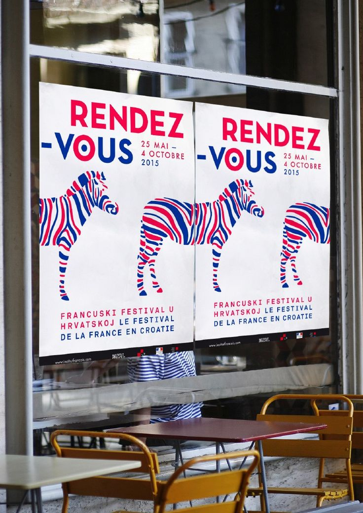 Rendez-vous en Croatie is a festival that celebrates the French cultural heritage and contemporary creation in Croatia. Here is the proposed visual identity that we proposed.  hastag / stripes / tricolore  http://www.grapheine.com/divers/festival-rendez-vous-en-croatie