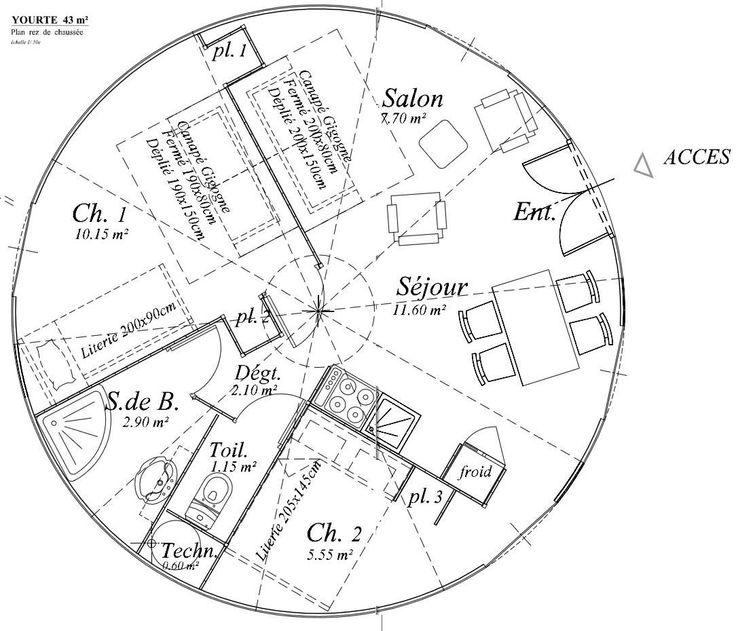 Yourte contemporaine architecture pinterest yourte for Logiciel plan maison ronde