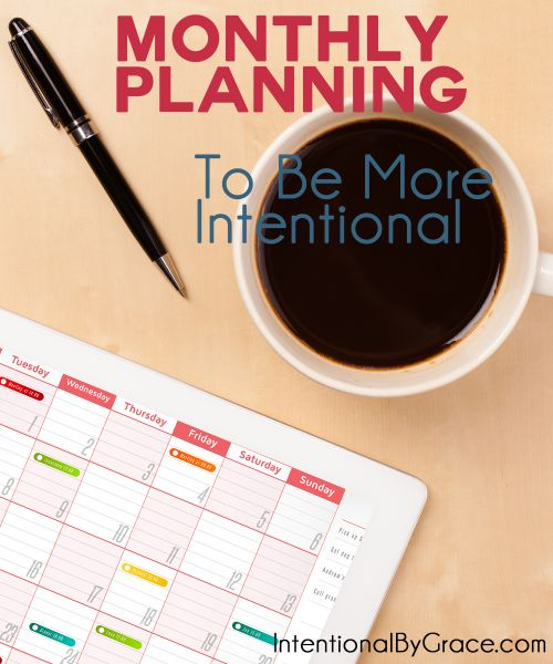 How to do Monthly Planning to Be More Intentional with your time. Such a helpful series!